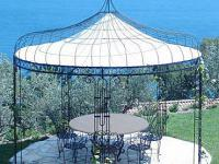 wrought iron gazebo with roof